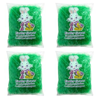 8-oz. Colored Easter Grass Bags, Set of 4