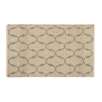 "27""x42"" Beige/Gray Scroll Wool Accent Rug view 1"