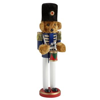 "15"" Marching Teddy Bear Nutcracker with Drums"