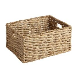 Water Hyacinth Twist Rectangular Woven Basket