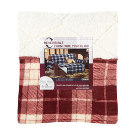 Lodge Plaid/Sherpa Reversible Chair Cover view 1