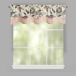 Traditions by Waverly® Cream Asian Flowers Window Valances, Set of 2