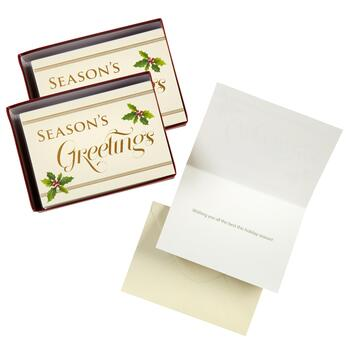 "36-Count ""Season's Greetings"" Holly Greeting Cards, Set of 2"