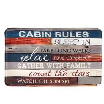 """Cabin Rules"" Cushioned Floor Mat"