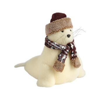 "14"" Snowy Seal Decor view 1"