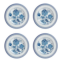 Waverly® Turquoise Floral Melamine Salad Plates, Set of 4 view 1