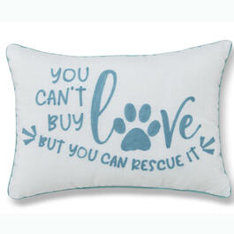 """You Can't Buy Love"" 14"" x 20"" Throw Pillow view 1"
