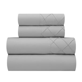 Josie Solid Pleated Microfiber Sheet Set