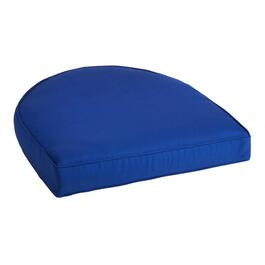 Solid Cobalt Indoor/Outdoor Gusset Seat Pad