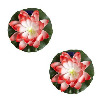 Solar Flower Lily Pads, Set of 2 view 1