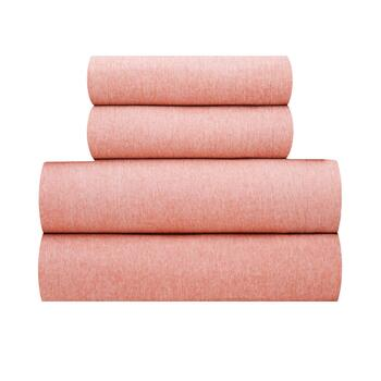 Yarn-Dyed Solid Microfiber Sheet Set