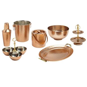 Hammered Copper Bar Essentials Collection