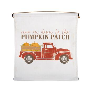 "24"" ""Come On Down to the Pumpkin Patch"" Tapestry Wall Decor"