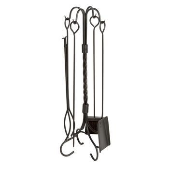 Deluxe Fireplace Tool Set, 5-Piece