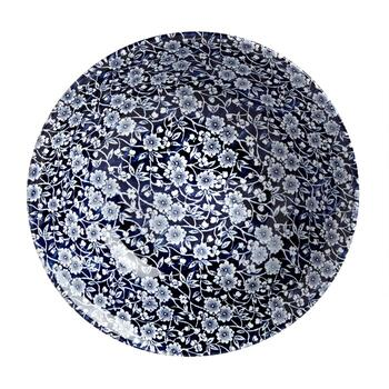 Blue Calico Ceramic Salad Bowl view 2