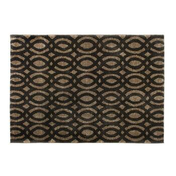 5'x7' Brown/Black Strato Geometric Area Rug