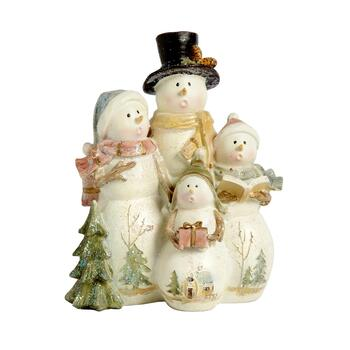 "7"" Top Hat Snowmen Carolers"