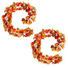 6' Harvest Leaf Garland Chains, Set of 2