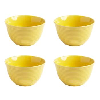Bistro Brights Yellow Cereal Bowls, Set of 4