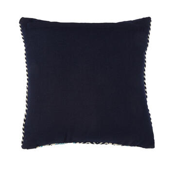 Blue Stripe Indoor/Outdoor Square Throw Pillow view 2