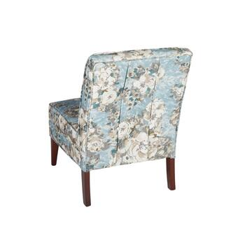 Floral Tufted Upholstered Slipper Chair view 2