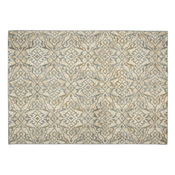 "6'6""x9'4"" Blue/Ivory Floral Frieze Area Rug view 1"