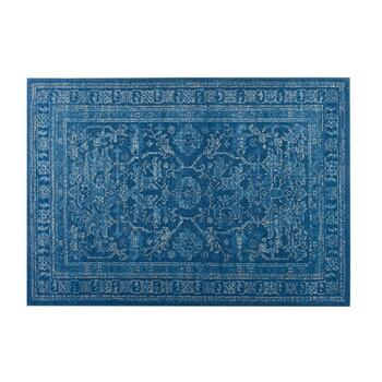 "4'7""x6'6"" Dark Blue Vintage Indoor/Outdoor Area Rug"