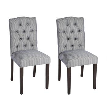Noland Tufted Upholstered Chairs, Set of 2
