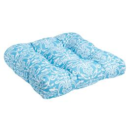 Vera® Blue Damask Indoor/Outdoor Single-U Seat Pad