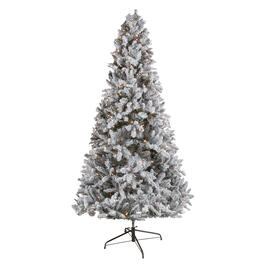 7.5' Pre-Lit Artificial Flocked Mountain Pine Christmas Tree view 1