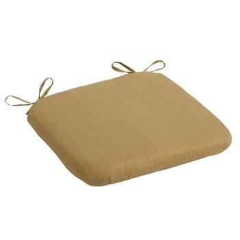 Solid Brown Indoor/Outdoor Squared Seat Pad