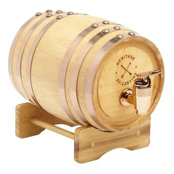 Wood Barrel Whiskey Drink Dispenser