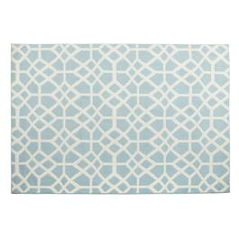 5'x7' Madrid Blue/White Area Rug