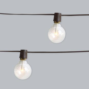 16-Count Solar Cafe String Lights