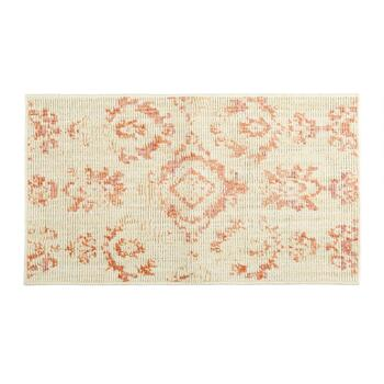 Mohawk Home Ivory/Coral Damask Patterned Accent Rug