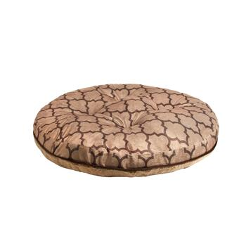 Brown Geo Extra-Large Oval Pet Bed