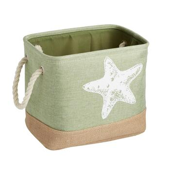 "Coastal Living Seascapes™ 14"" Light Green Starfish Storage Bin"