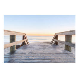 "24""x36"" Sunset Boardwalk Indoor/Outdoor Canvas Wall Art view 1"