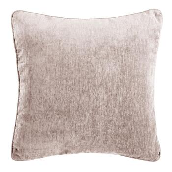 Solid Chenille Feather-Fill Square Throw Pillow