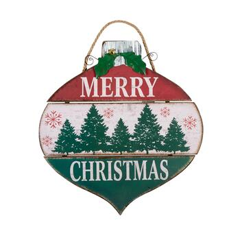 "18"" ""Merry Christmas"" Ornament Wood Wall Hanger"