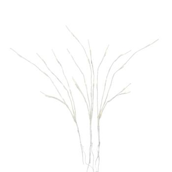 "27"" White 30-LED Light Glitter Branch"