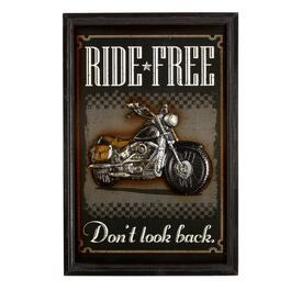 "16""x24"" ""Ride Free"" Motorcycle Wall Sign"