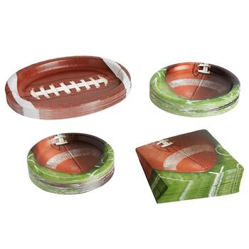 Football Paper Goods Set