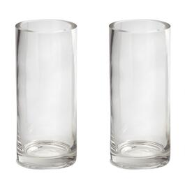"9"" Thick-Walled Round Glass Vases, Set of 2"