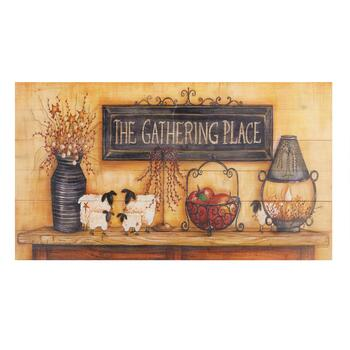 "19""x34"" ""The Gathering Place"" Wood Pallet Wall Decor"