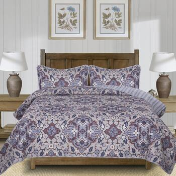 The Grainhouse™ Blue Floral Quilt Set