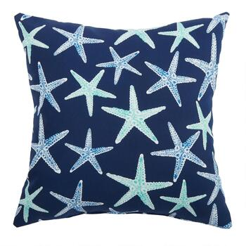 Starfish Indoor/Outdoor Square Throw Pillow