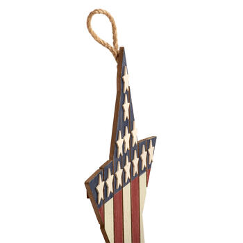 "18.5"" ""God Bless America"" Wood Star Wall Decor view 2"