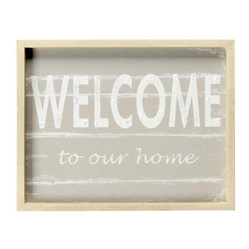 """Welcome to Our Home"" Vintage LED Wall Sign"