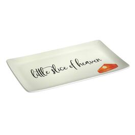 """Little Slice of Heaven"" Heavyweight Melamine Serving Tray"